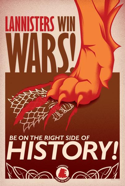 Lannisters win wars