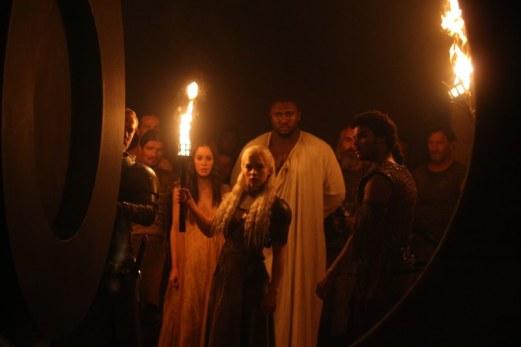 "1 HBO's ""Game of Thrones"" season 2 Dany- Emilia Clarke Jorah- Ian Glen Kavaro- Steven Cole Doreah- Roxanne Mc Kee Xaro Xhaon Daxos- Nonso Anonzie"